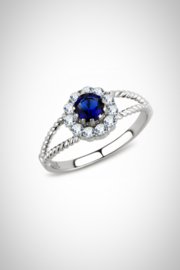 Embellish Solitaire Cz Ring - Product Mini Image