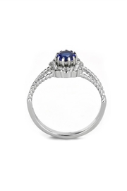 Embellish Solitaire Cz Ring - Front full body