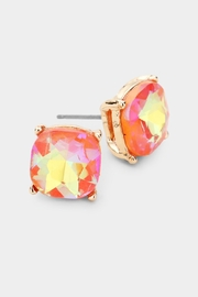 Embellish Cushion Stud Earrings - Front cropped