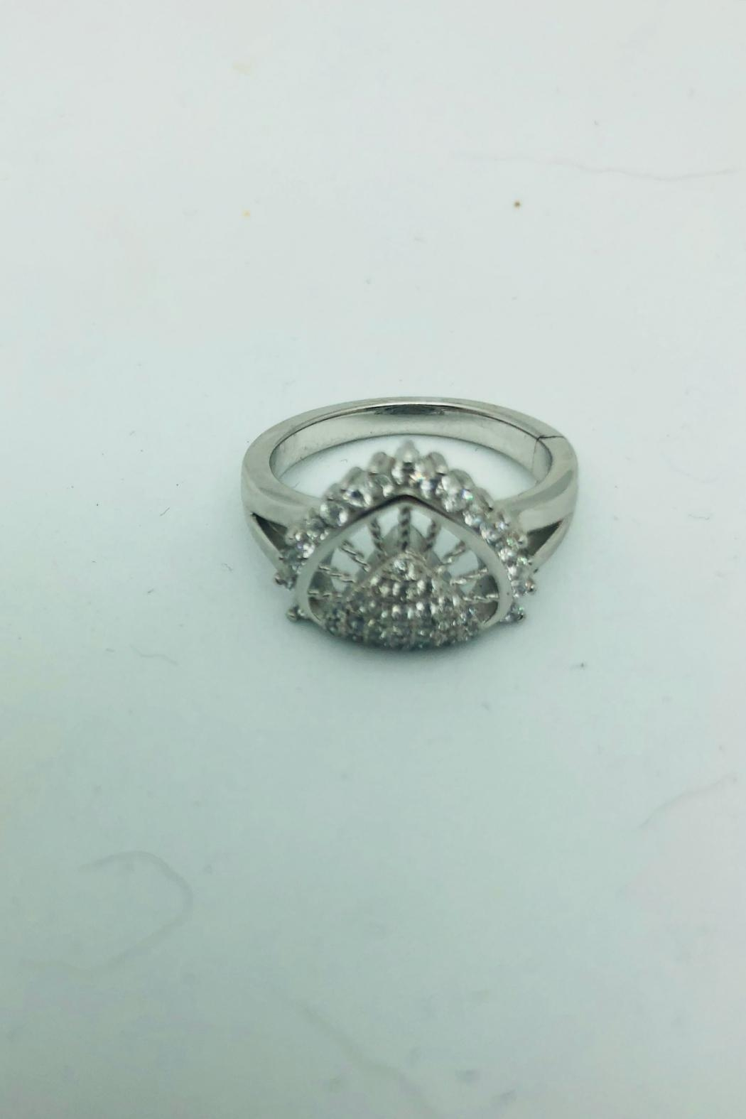 Embellish Cz Sterling Ring - Front Cropped Image