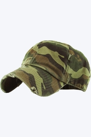 Embellish Distressed Camo Cap - Front cropped