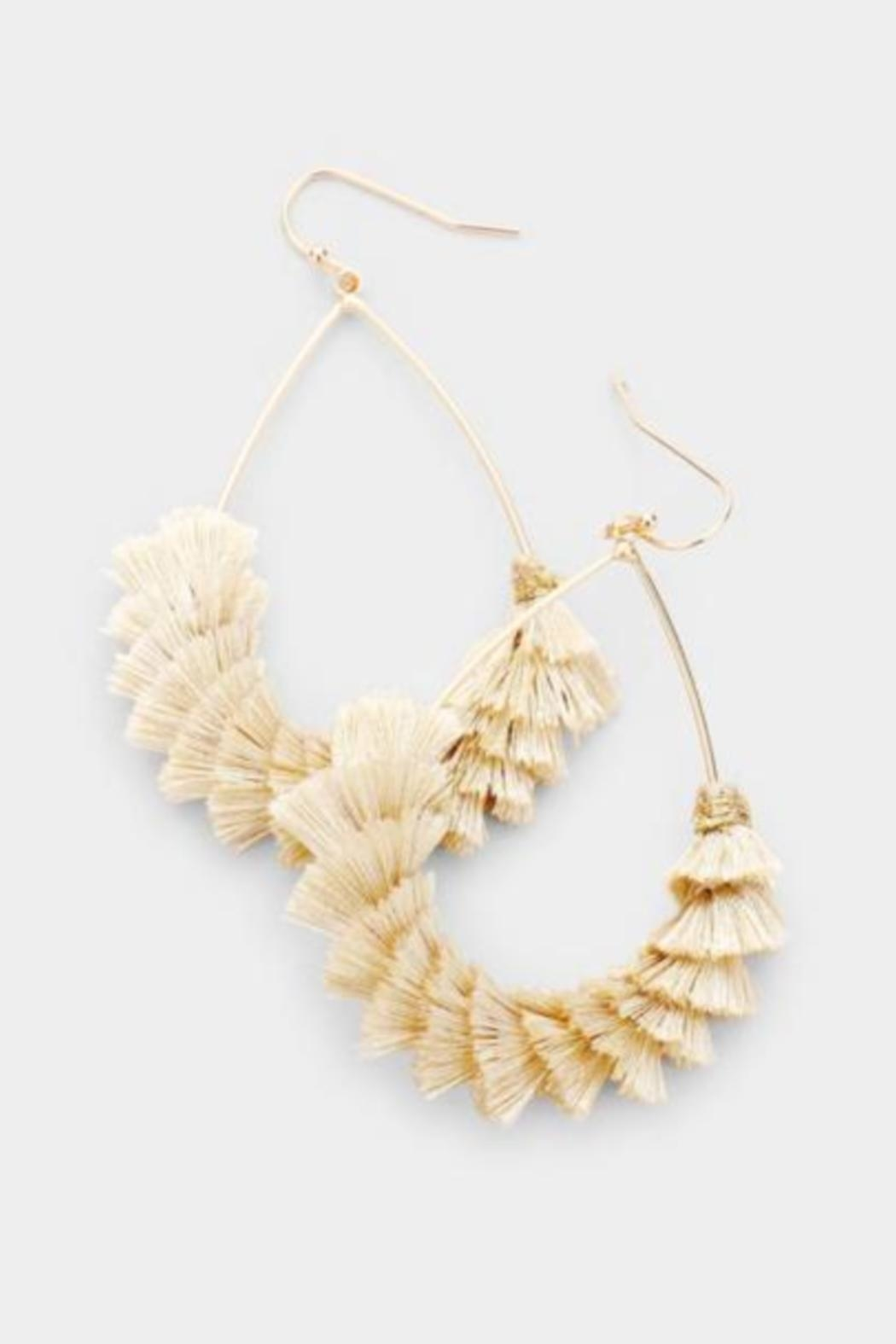Embellish Domino Effect Earrings - Front Cropped Image