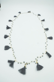 Embellish crochet tassel necklace - Product Mini Image