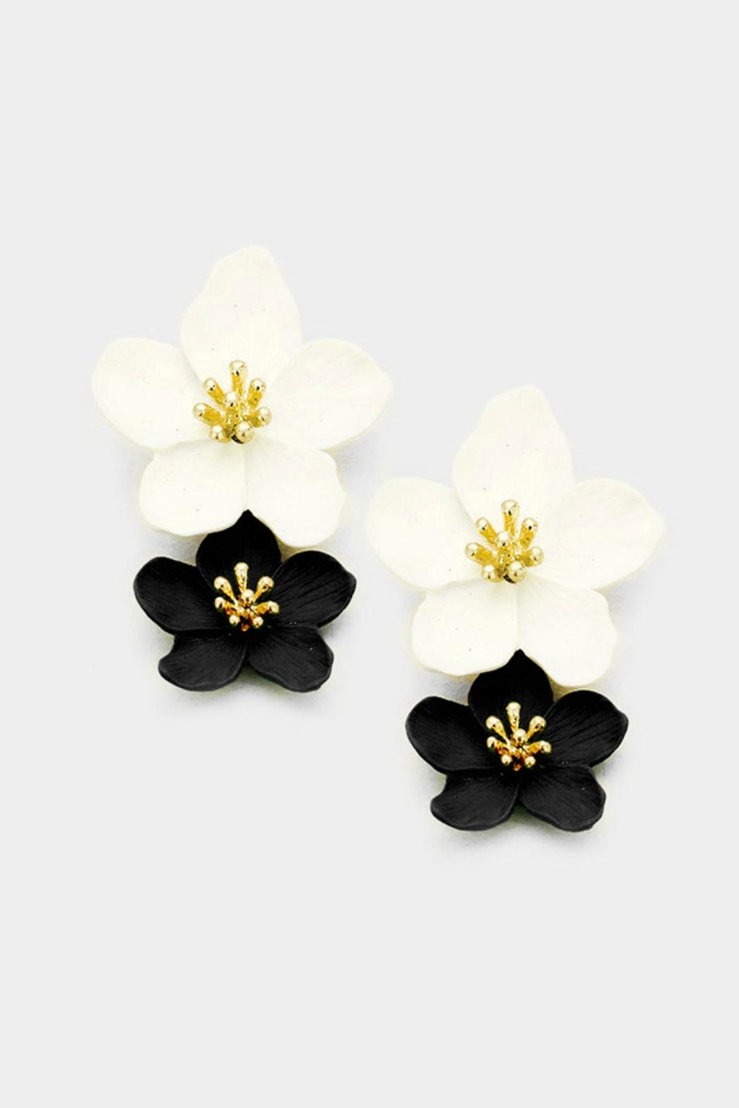 Embellish Double Flower Earrngs - Main Image