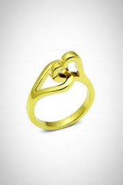 Embellish Double Heart Ring - Product Mini Image