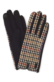 Embellish Earth-Tone Houndstooth Gloves - Product Mini Image