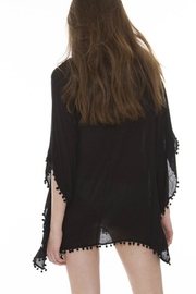 Embellish Embroidered Pom Poncho - Front full body