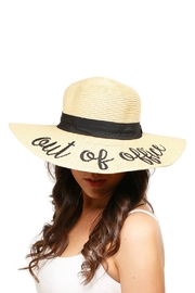 Embellish Embroidered Straw Hat - Front full body