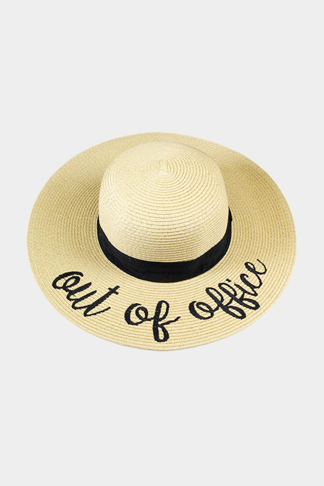 Embellish Embroidered Straw Hat - Main Image