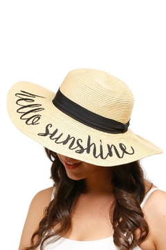 Embellish Embroidered Straw Hat - Product List Image