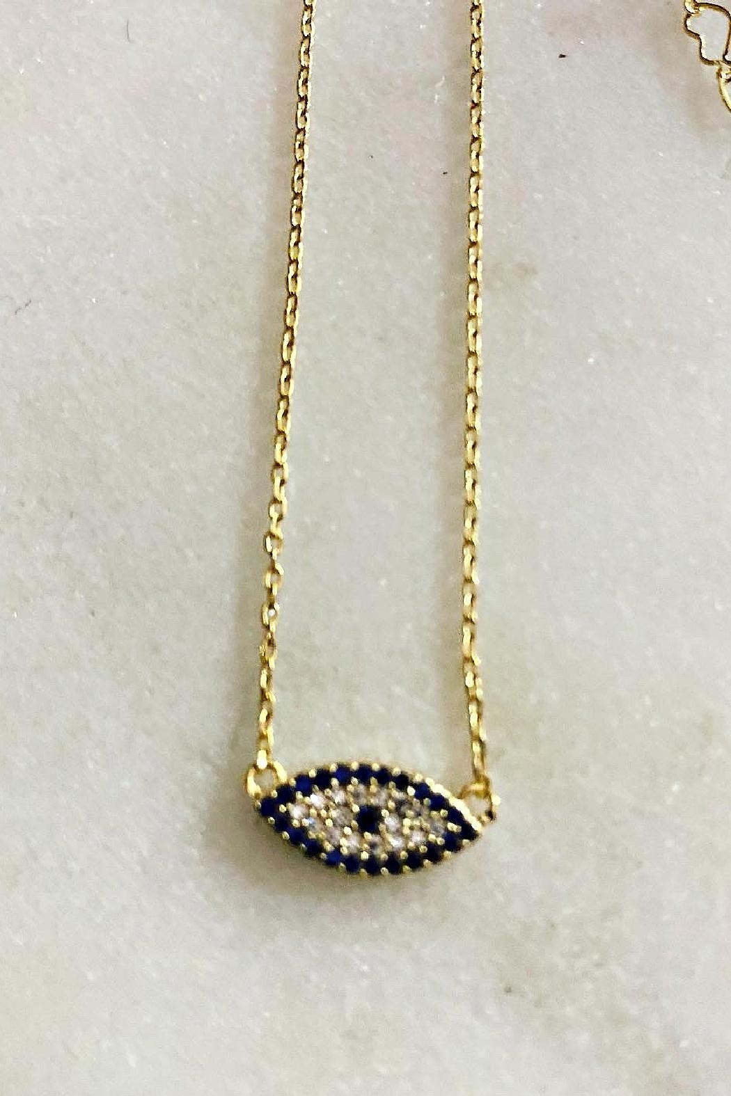 Embellish Evil Eye Pendant Necklace - Front Full Image
