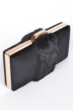 Shoptiques Product: Velvet Fur Clutch