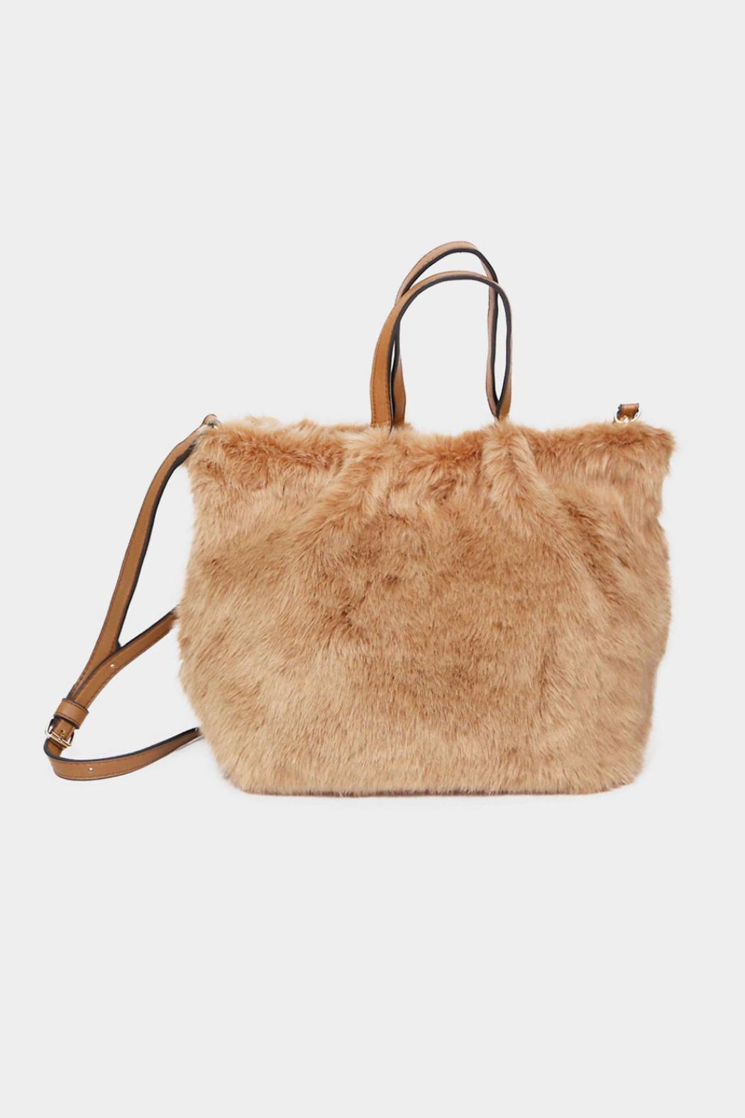 Embellish Faux Fur Bag - Front Cropped Image