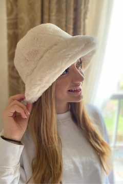 Embellish Faux Fur Bucket Hat - Alternate List Image