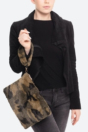 Embellish Faux Fur Camo Bag - Product Mini Image
