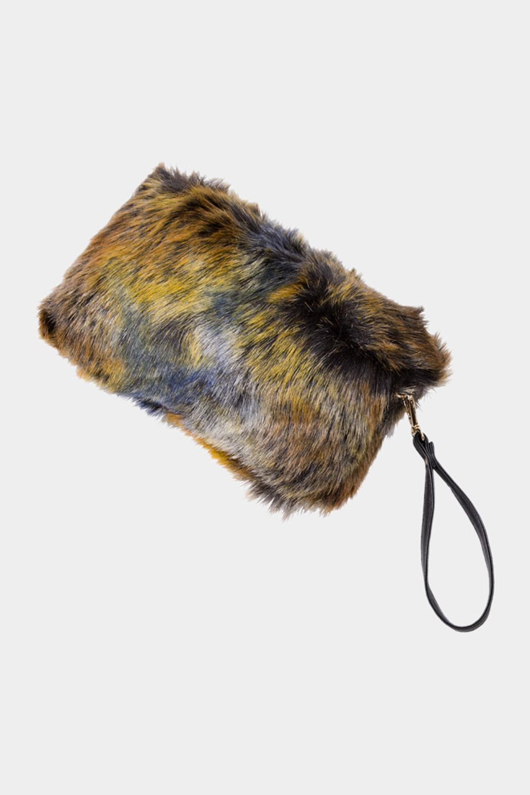 Embellish Faux Fur Clutch - Main Image