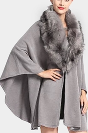 Embellish Faux Fur Poncho - Product Mini Image