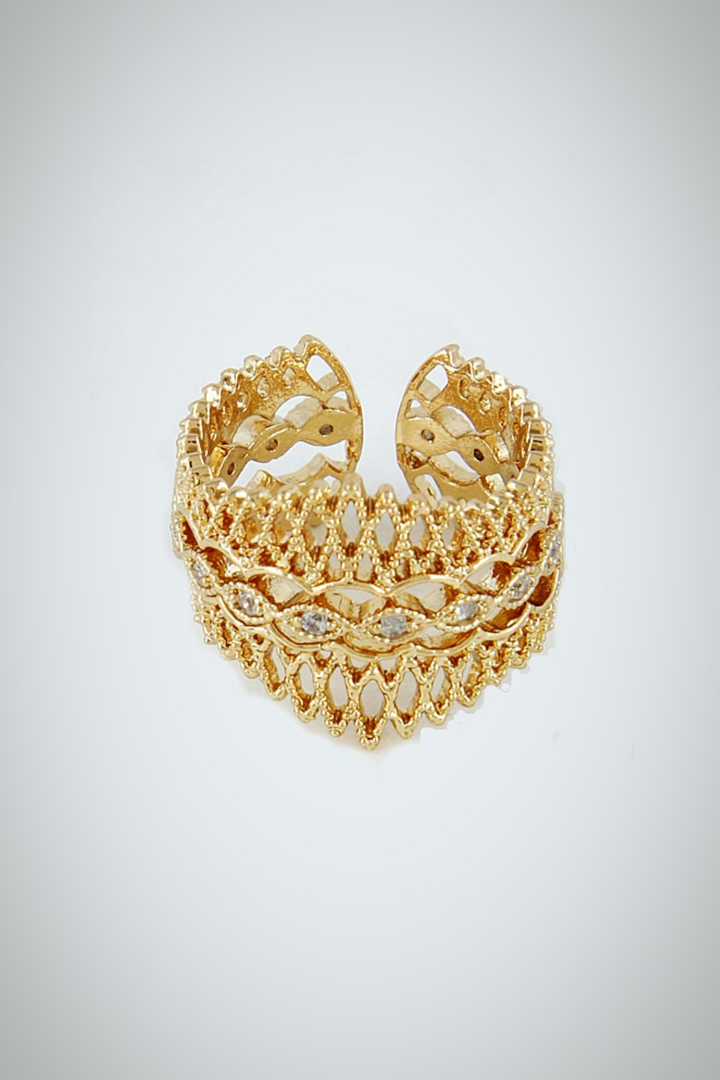Embellish Filigree Queen Ring - Front Cropped Image