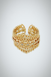 Embellish Filigree Queen Ring - Front cropped
