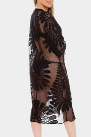 Embellish Flower Lace Coverup - Front full body