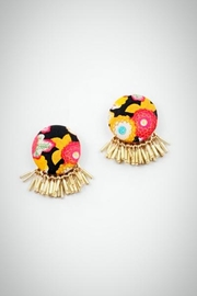 Embellish Flower Print Earring - Product Mini Image