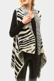 Embellish Fuzzy Zebra Vest - Product Mini Image
