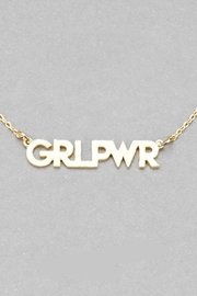 Embellish Girl Power Necklace - Front cropped