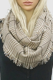 Embellish Glen Check Scarf - Front cropped