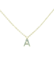 Embellish Gold Initial Necklace - Product Mini Image