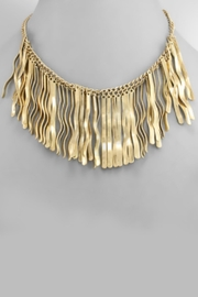 Embellish Gold Fringe Necklace - Product Mini Image