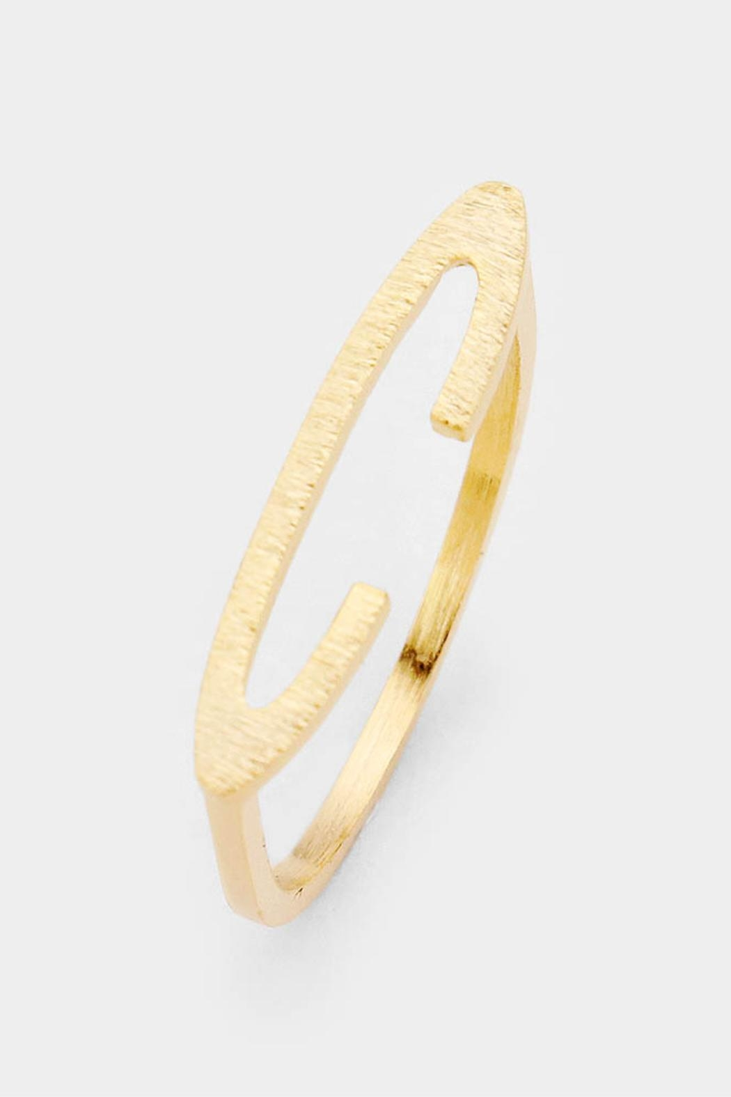 Embellish Stackable Initial Ring - Side Cropped Image