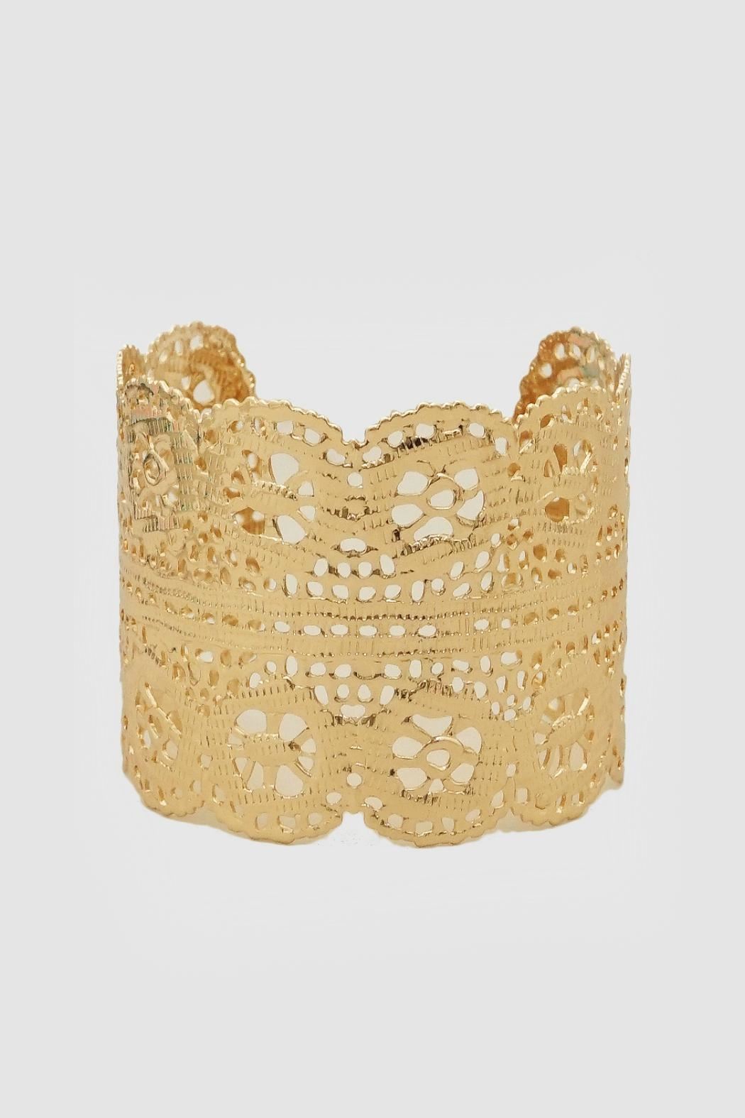 Embellish Gold Lace Cuff - Main Image