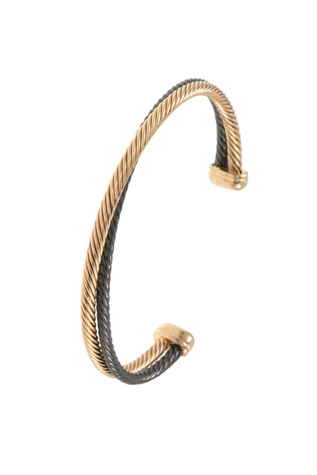 Embellish Gold Twist Bracelet - Front Cropped Image