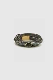 Embellish Gray Leather Bracelet - Product Mini Image