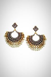 Embellish Crystal Pearl Earrings - Product Mini Image