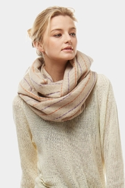 Embellish Herringbone Infinity Scarf - Front cropped