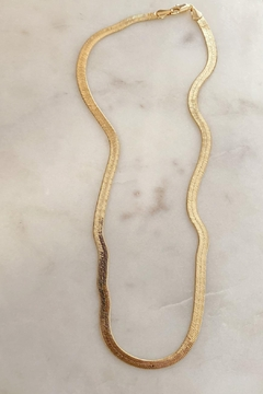 Embellish Herringbone Liquid Gold Necklace - Product List Image