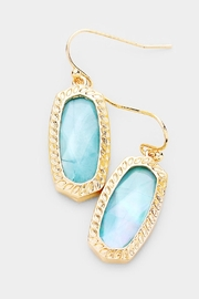 Embellish Hexagon Stone Earrings - Front cropped