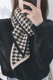 Embellish Houndstooth Narrow Scarf - Product Mini Image