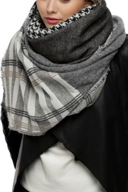 Embellish Houndstooth Plaid Scarf - Product Mini Image