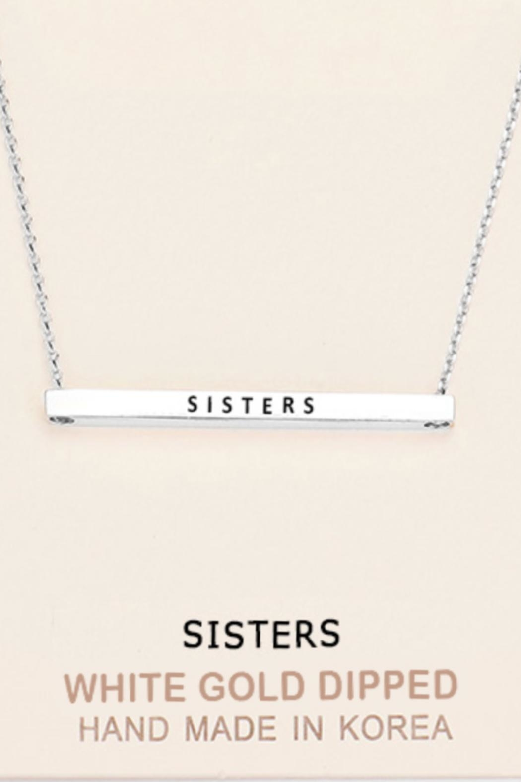 Embellish Inspirational Sisters Necklace - Front Cropped Image