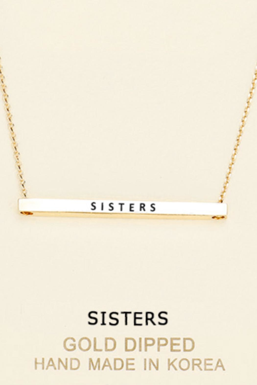 Embellish Inspirational Sisters Necklace - Main Image