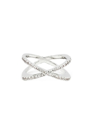 Embellish Metal Crystal Ring - Product Mini Image