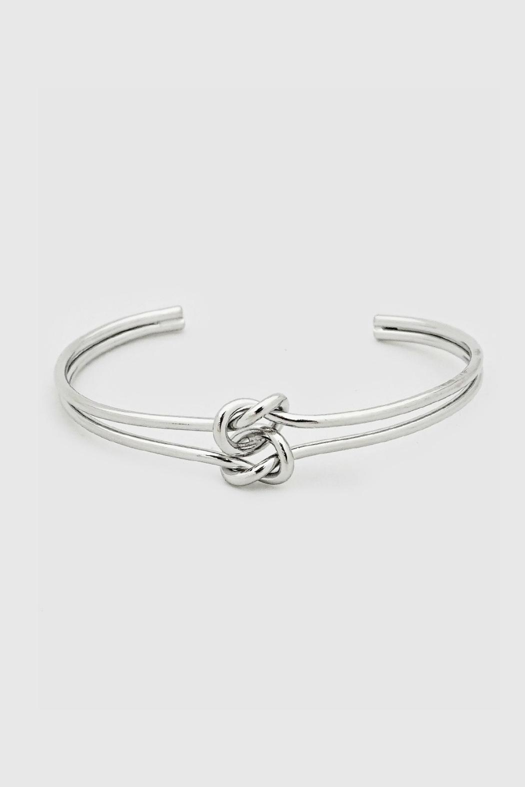 Embellish Knot Cuff Bracelet - Front Cropped Image