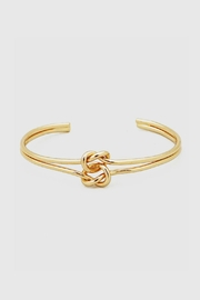 Embellish Knot Cuff Bracelet - Front cropped