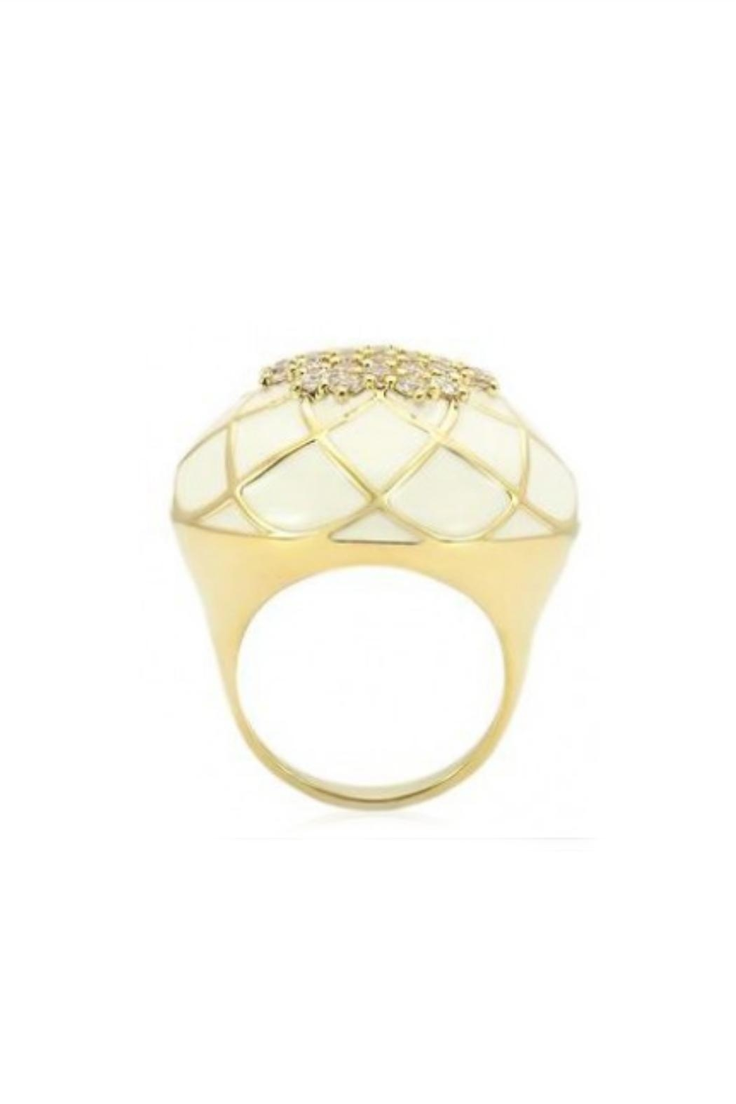 Embellish Lattice Crystal Ring - Front Full Image