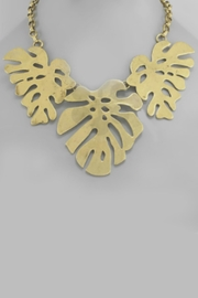Embellish Leaf Statement Necklace - Product Mini Image