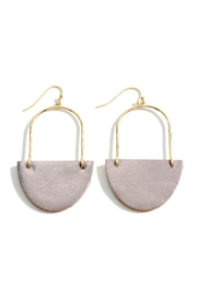 Embellish Leather Drop Earrings - Front cropped