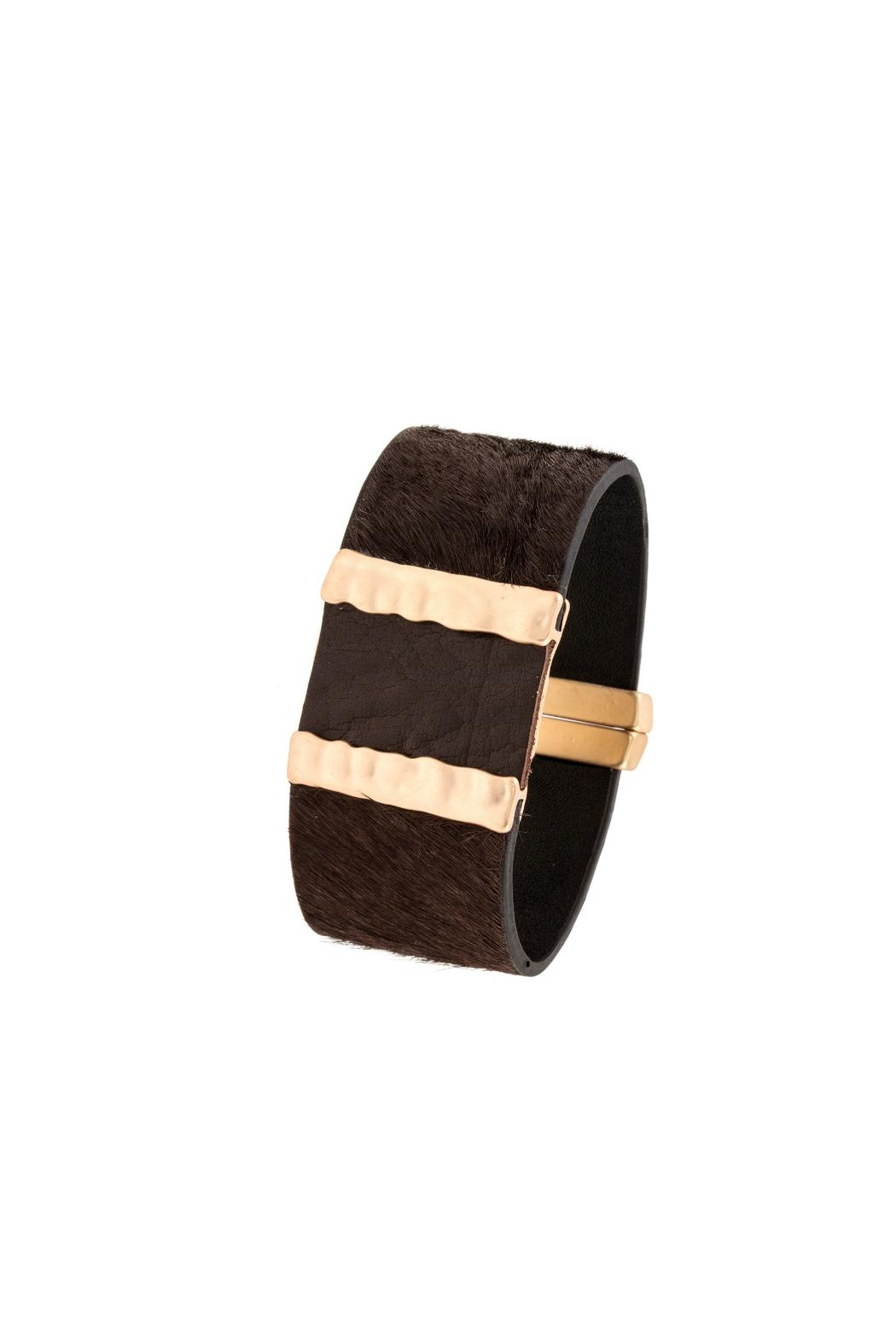 Embellish Leather Magnetic Bracelet - Main Image
