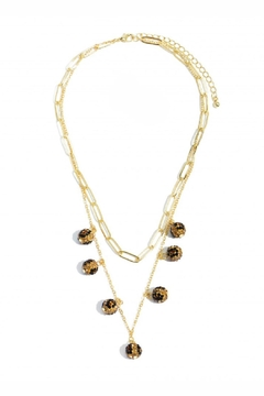 Embellish Leopard Ball Sparkle Necklace - Product List Image